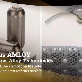 German Innovation awaed Heraeus Amloy: 3D-Druck mit amorphen Metallen